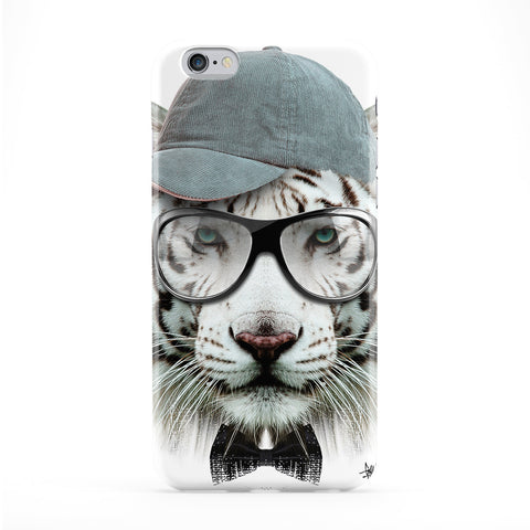 White Tiger with Cap Phone Case by Gangtoyz