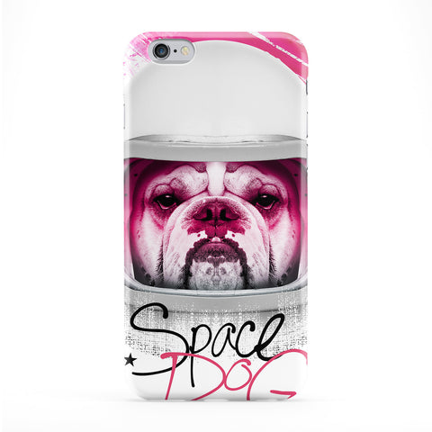 Space Dog Full Wrap Protective Phone Case by Gangtoyz