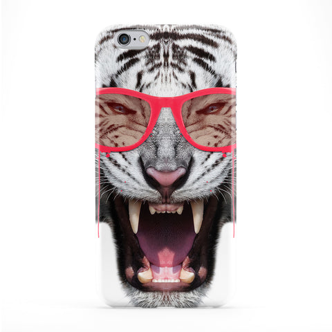 Red Fury Tiger Full Wrap Protective Phone Case by Gangtoyz