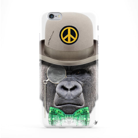 Monkey with Hat Full Wrap Protective Phone Case by Gangtoyz