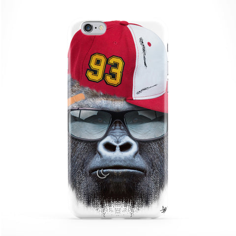 Gorilla withCap Full Wrap Protective Phone Case by Gangtoyz