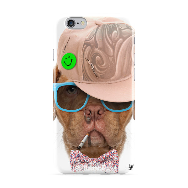 Dog with Cap 03 Full Wrap Protective Phone Case by Gangtoyz