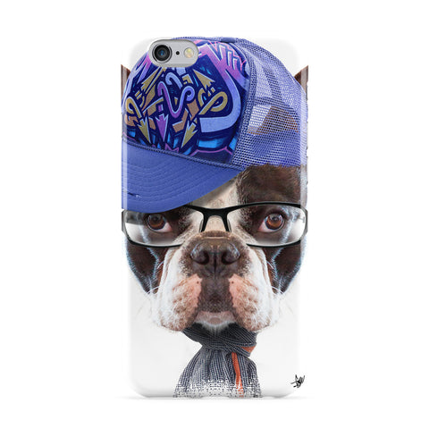 Dog with Cap 02 Full Wrap Protective Phone Case by Gangtoyz