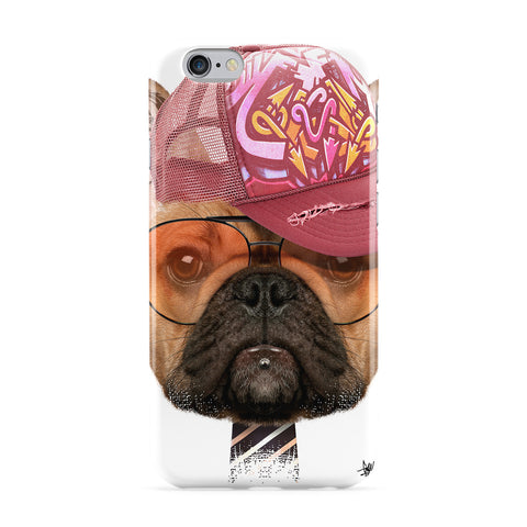 Dog with Cap 01 Full Wrap Protective Phone Case by Gangtoyz