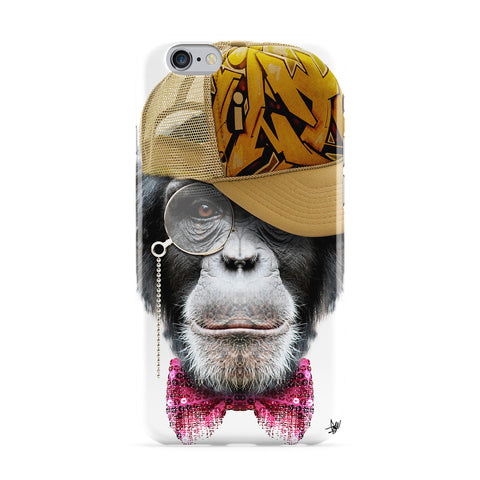 Chimp with Cap Full Wrap Protective Phone Case by Gangtoyz
