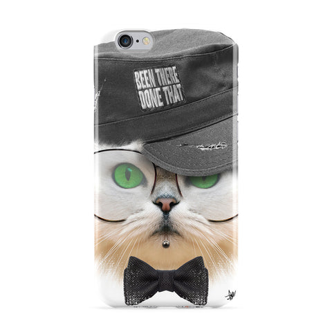 Cat with Hat Full Wrap Protective Phone Case by Gangtoyz
