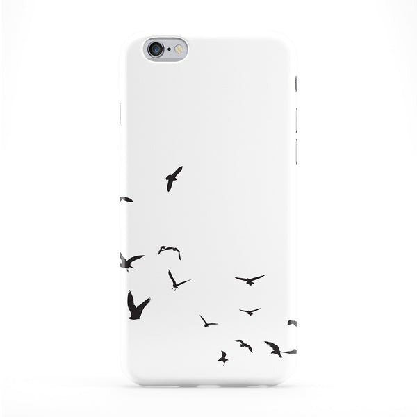 Birds in Flight White Full Wrap Protective Phone Case by Gadget Glamour