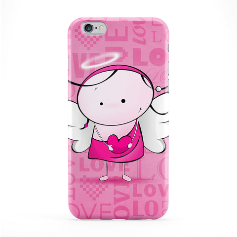Cute Angel II - Pink Full Wrap Protective Phone Case by UltraCases