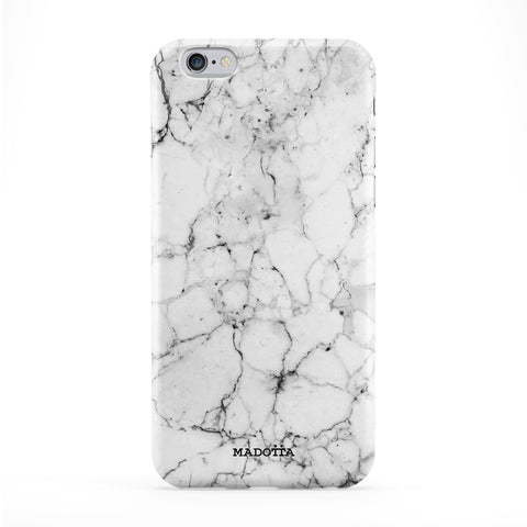 White Marble Full Wrap Protective Phone Case by UltraCases