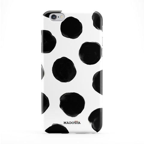 Hand Drawn Black Dots Full Wrap Protective Phone Case by UltraCases