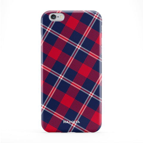 Red and Blue Tartan Fabric Phone Case by UltraCases