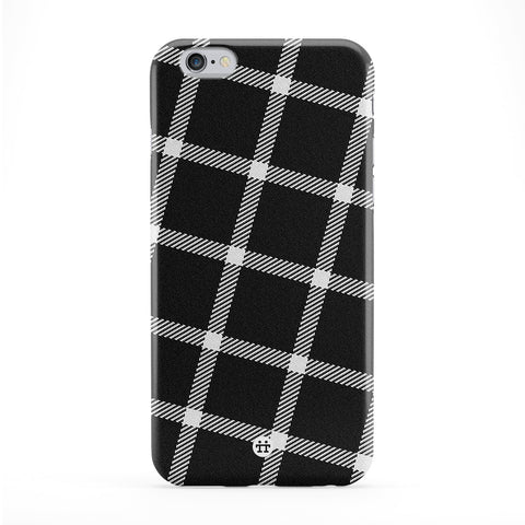 Minimal Black Tartan Pattern Phone Case by UltraCases
