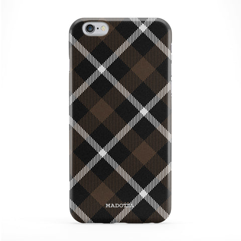 Brown Tartan Pattern Phone Case by UltraCases