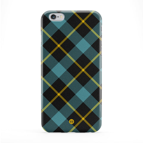 Blue Tartan Pattern Full Wrap Protective Phone Case by UltraCases