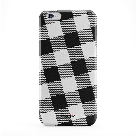 Black and White Tartan Full Wrap Protective Phone Case by UltraCases