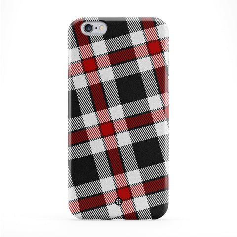 Black and Red Tartan Pattern Full Wrap Protective Phone Case by UltraCases