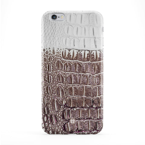 Two Tone Crocodile Skin Texture Full Wrap Protective Phone Case by UltraCases