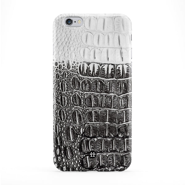 BW Two Tone Crocodile Skin Texture Full Wrap Protective Phone Case by UltraCases