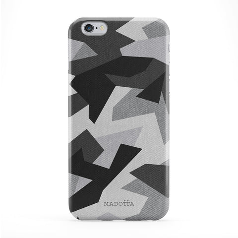 White Snow Camo Pattern Full Wrap Protective Phone Case by UltraCases