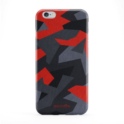 Red Camo Pattern Phone Case by UltraCases