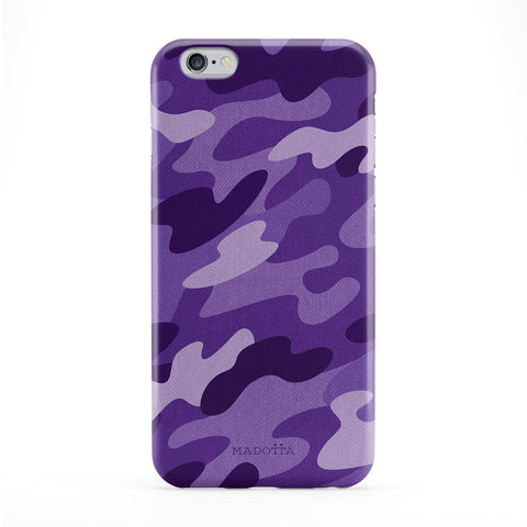 Purple Camo Pattern Full Wrap Protective Phone Case by UltraCases
