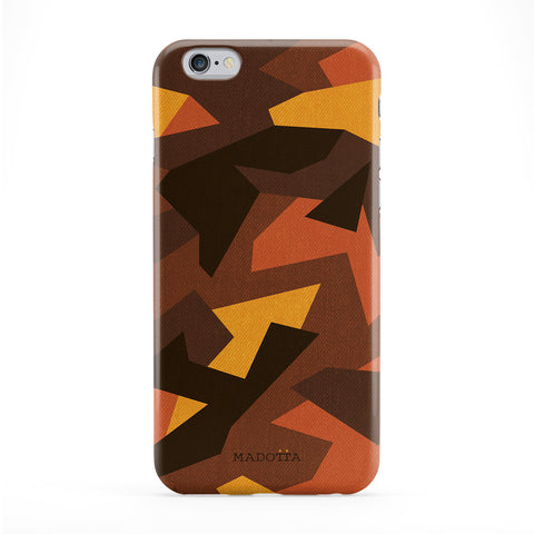 Geomteric Orange Camouflage Pattern Phone Case by UltraCases