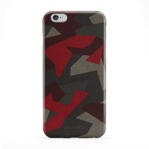 Geometric Red Camouflage Pattern Phone Case by UltraCases