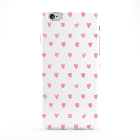Baby Pink Hearts Pattern Full Wrap Protective Phone Case by UltraCases