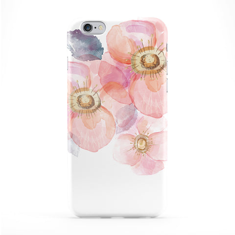 Watercolor Floral Art Full Wrap Protective Phone Case by UltraCases