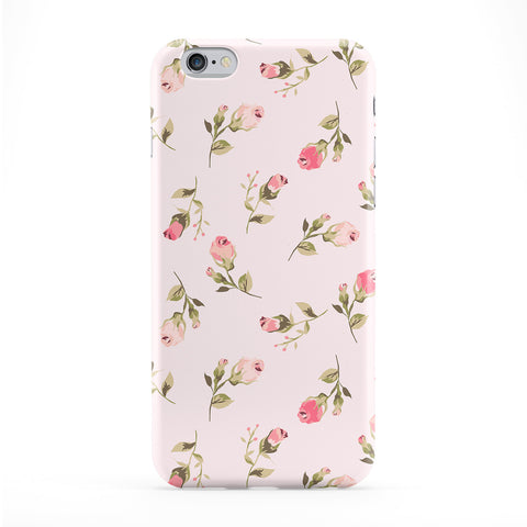 Vintage Pink Floral Pattern Full Wrap Protective Phone Case by UltraCases