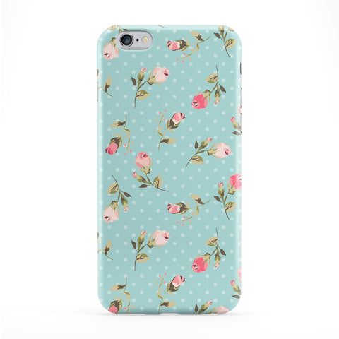 Teal Vintage Floral Pattern Full Wrap Protective Phone Case by UltraCases