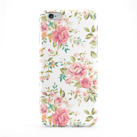 Roses on White Vintage Floral Pattern Full Wrap Protective Phone Case by UltraCases
