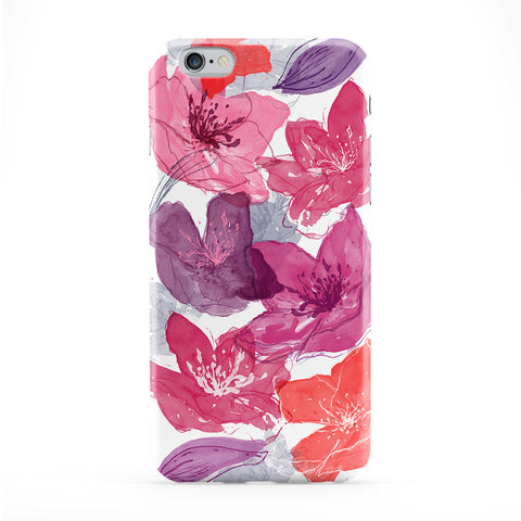 Modern Colourful Lilies Full Wrap Protective Phone Case by UltraCases
