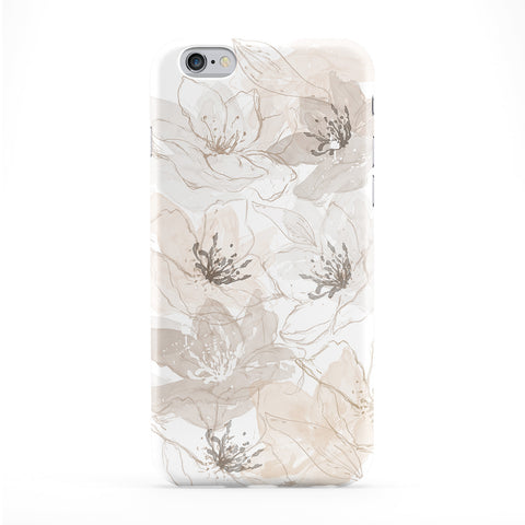 Abstract Golden Lilies Full Wrap Protective Phone Case by UltraCases