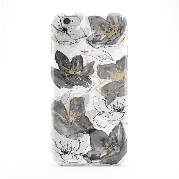 Abstract Black Lilies Full Wrap Protective Phone Case by UltraCases