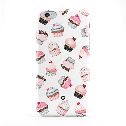 Cutest Cupcakes White Full Wrap Protective Phone Case by UltraCases