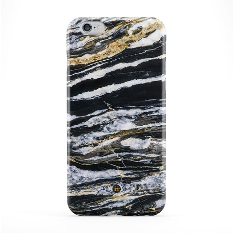 Black River Marble Full Wrap Protective Phone Case by UltraCases