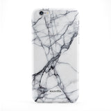Cracked White Marble Full Wrap Protective Phone Case by UltraCases