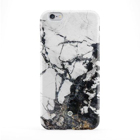 Black and White Marble Full Wrap Protective Phone Case by UltraCases