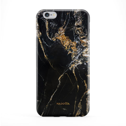 Black and Gold Marble Full Wrap Protective Phone Case by UltraCases