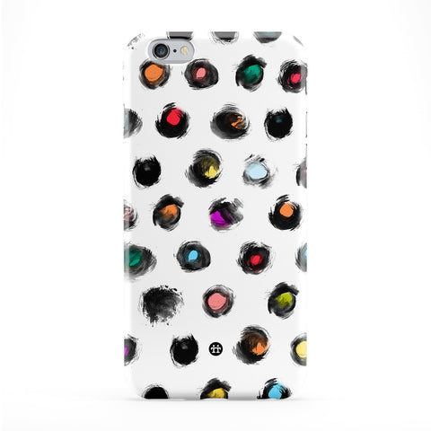 Colourful Circle Smear Dots Full Wrap Protective Phone Case by UltraCases