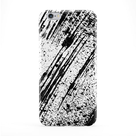 Black Strokes Full Wrap Protective Phone Case by UltraCases