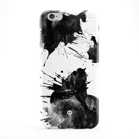 Black Inky Blots Full Wrap Protective Phone Case by UltraCases