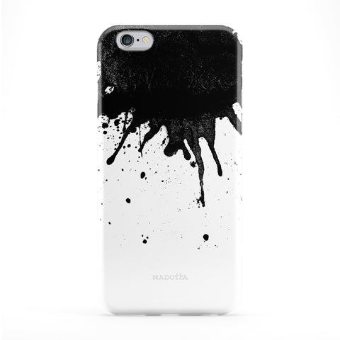 Black Ink Blot 2 Full Wrap Protective Phone Case by UltraCases