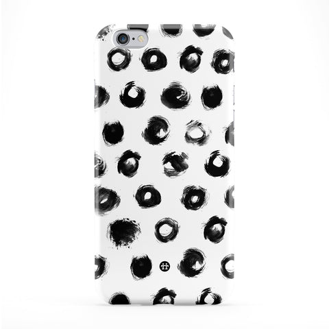 Black Circle Smear Dots Full Wrap Protective Phone Case by UltraCases