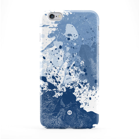 Abstract Dark Blue Ink Splats Full Wrap Protective Phone Case by UltraCases