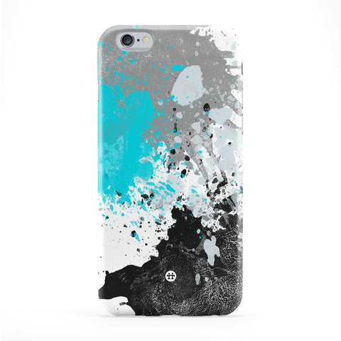 Abstract Blue Ink Splats Full Wrap Protective Phone Case by UltraCases