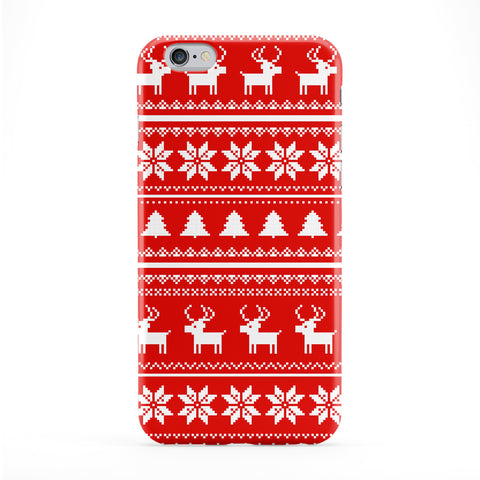 Ugly Sweater Christmas Pattern White on Red Phone Case by UltraCases