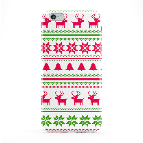 Ugly Christmas Sweater Pattern Green and Pink Full Wrap Protective Phone Case by UltraCases
