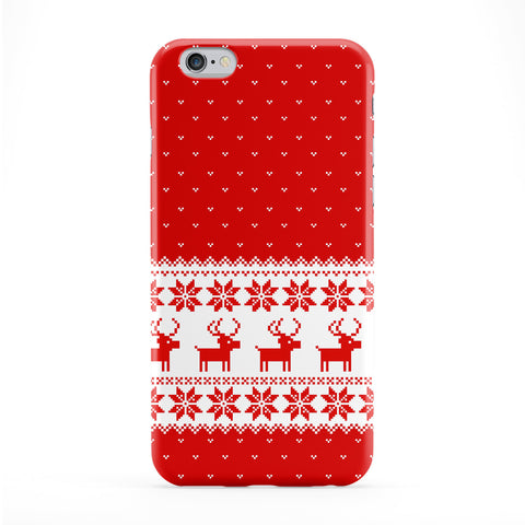 Ugly Sweater Christmas Pattern White and Red Full Wrap Protective Phone Case by UltraCases